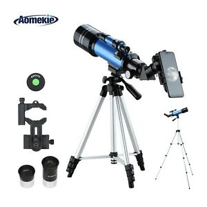 40070 Telescope 16X/66X with Adjustable Tripod Phone Adapter Kids Beginners Gift