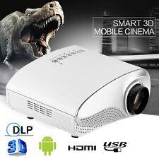 HD 1080P AV HDMI Home Cinema Theater Movie Multimedia LED Projector White EU TH