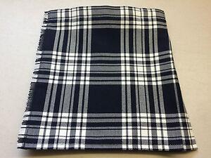 Menzies Navy Tartan Baby Kilt  0-3 m to 2-3 y (Waist & Length Sizes Shown)