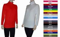 Women Cotton Spandex Long Sleeve Turtleneck Tunic