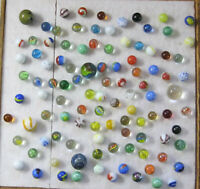 Estate Find 100+ Vintage Marbles Peltier Master MK Vitro Shooters Cats Eyes