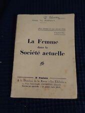 livre ancien femme dans la societe actuelle 1932 abbe paravy religion catholique