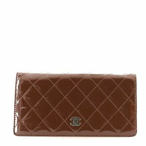 Chanel Bi-Fold Wallet Quilted Patent