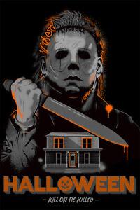 Halloween Michael Myers Horror Movie Print Wall Art Home Decor - POSTER 24x36