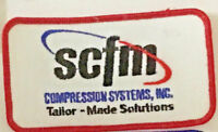 SCFM compression systems inc advertising patch 2-1/2 X 4-1/2 #3037