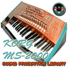 KORG MS2000 - Large Sound Library - Original Samples in WAVE/Kontakt on DVD