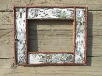Birch Bark and Twig Picture Frames White Handcrafted Handmade Rustic Wedding