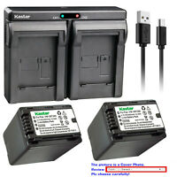 Kastar Battery Dual USB Charger for Panasonic VW-VBT380 VBT380 VW-VBT190 VBT190