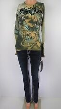 NWT Remetee Thermal Graphic tee Yellow Sz L