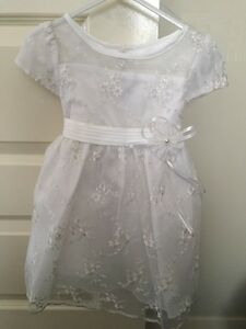Girls white Princess christening Dress, wedding special occasion size 24 months