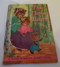 Vintage The Three Bears Rand McNally Giant Book 1962 Illustrated