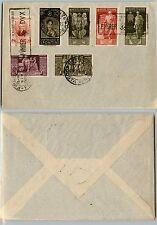 REGNO-Valori usati su busta Marconi/Spontini/Augusto 9.5.1938
