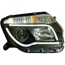 LHD Projector Headlights Pair LED lightbar DRL Clear Black For Dacia Duster