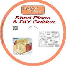 1Over 180 DIY BOOKS on CD - Plans for Sheds Greenhouses Garden Furniture Decking