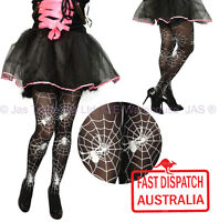 Halloween Costume Party Fancy Dress Tights Stockings Pantyhose Spider Web BLACK