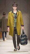 $2,795 RUNWAY Burberry Prorsum Men 38 Khaki Crochet Collar Beaded Trench Coat A