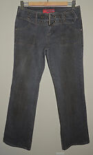 WOMENS HOTKISS DISTRESSED FLARE BLUE JEANS 98% COTTON SIZE 9/31
