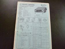 Original Service Manual Car Radio Philips nd371v Car Super