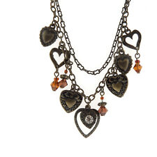 Mary Kate and Ashley Crystal Heart Charm Necklace