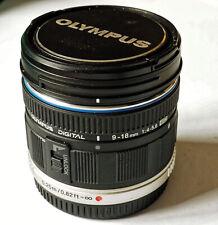 Olympus m.zuiko 9-18 mm 1:4-5.6 ED MFT m43 wide angle lens (used) panasonic