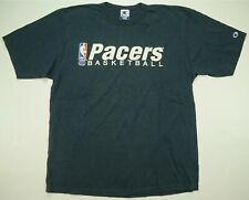 Rare VTG CHAMPION Indiana Pacers Basketball Single Stitch T Shirt 90s Navy SZ XL