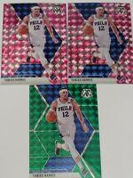 2019-20 Tobias Harris Mosaic Pink Camo Prizm, Green Prizm Lot of 3 Cards 76ers