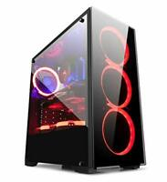 GOLDEN FIELD N17 Windowed Mid-Tower ATX/M-ATX/ITX PC Gaming Computer Case