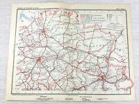 1902 Antique Railway Map of Belgium Brussels Liege Antwerp Leuven Railroad