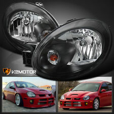 2003-2005 Dodge Neon Black Replacement Headlights Head Lamps Left+RIght