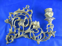 Antik Wandkerzenhalter Wandleuchter Klavier vergoldet Barock Antik