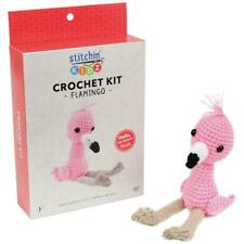 Crochet Kit Fabric Editions Stitchin Kidz Flamingo Doll Complete Yarn Diy