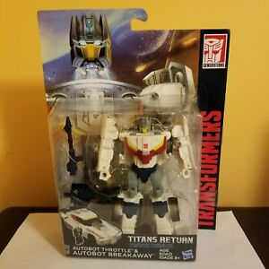 Transformers Titans Return Deluxe Class Throttle & Breakaway, New and Sealed