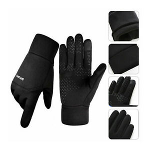 Men Women Sports Thermal Liner Gloves Touch Screen Running Walking Gloves A47