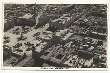 POSTCARD-PERU-LIMA-RP. Plaza San Martin, Aerial View.