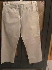 CJ Golf Apparel Women Sz 00 Ivory/Light Beige Cropped Pants NWOT