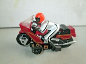Vintage TYCO Motorcycle Red & Silver w/TYCO Chassis HO Slot Car