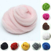 100% Genuine Wool Top Fibre Roving For Needle Spinning Felting Materials 5-100g