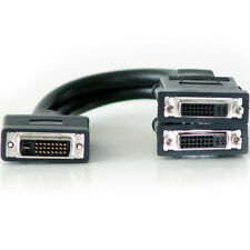 DVI-D Male To 2x DVI-I Female Y Splitter Cable Adapter -2 Port/Way Video Monitor