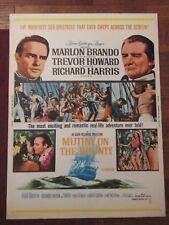 Mutiny On The Bounty    - Original 30 x 40 Movie Poster - Brando