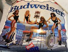 Budweiser Bud Bar Belles Pinup Poster Pump Up Party 1992 Beer Advertising VTG