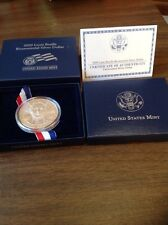 2009 LOUIS BRAILLE BICENTENNIAL PROOF SILVER DOLLAR WITH BOXES & COA
