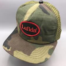 Vintage Lufkin Camouflage Mesh Adjustable Snapback Trucker Farmer Hat Cap