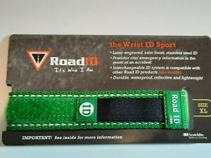 RoadID Sport Wrist ID Band Yellow Pink Orange Green Band Only XL Unisex Adult
