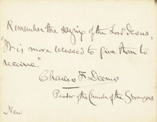 CHARLES F. DEEMS - AUTOGRAPH QUOTATION SIGNED