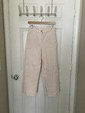 Everlane High Waisted Wide Leg Cropped Jean Pant, cotton, - light pink size 6