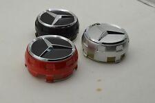 Red Black Chrome Raised Hub Cap Fit For Mercedes Benz AMG Wheel Center Hubcap 4p
