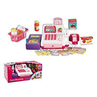 Girls Cash Register w/LED Screen, Scanner, Calculator Supermarket Pretend Play
