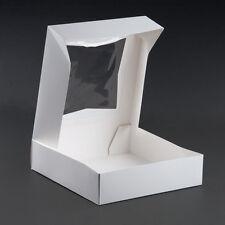 "10"" x 10"" x 2 1/2"" White Window Cake / Bakery Box -200 / Case Fast Shipping !"
