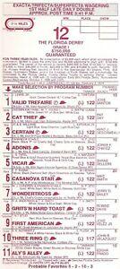 1999 Florida Derby program  unused Vicar Adonis Cat Thief Three Ring Certain