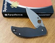 SPYDERCO New Carbon Fiber Handle Sage 5 With Plain Edge S30V Bld Knife/Knives